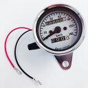 スピードメーター 機械式 12V 140km/h バイク用 汎用 メーター 最大速度表示140/h LED照明 LED バックライト バイクメ…