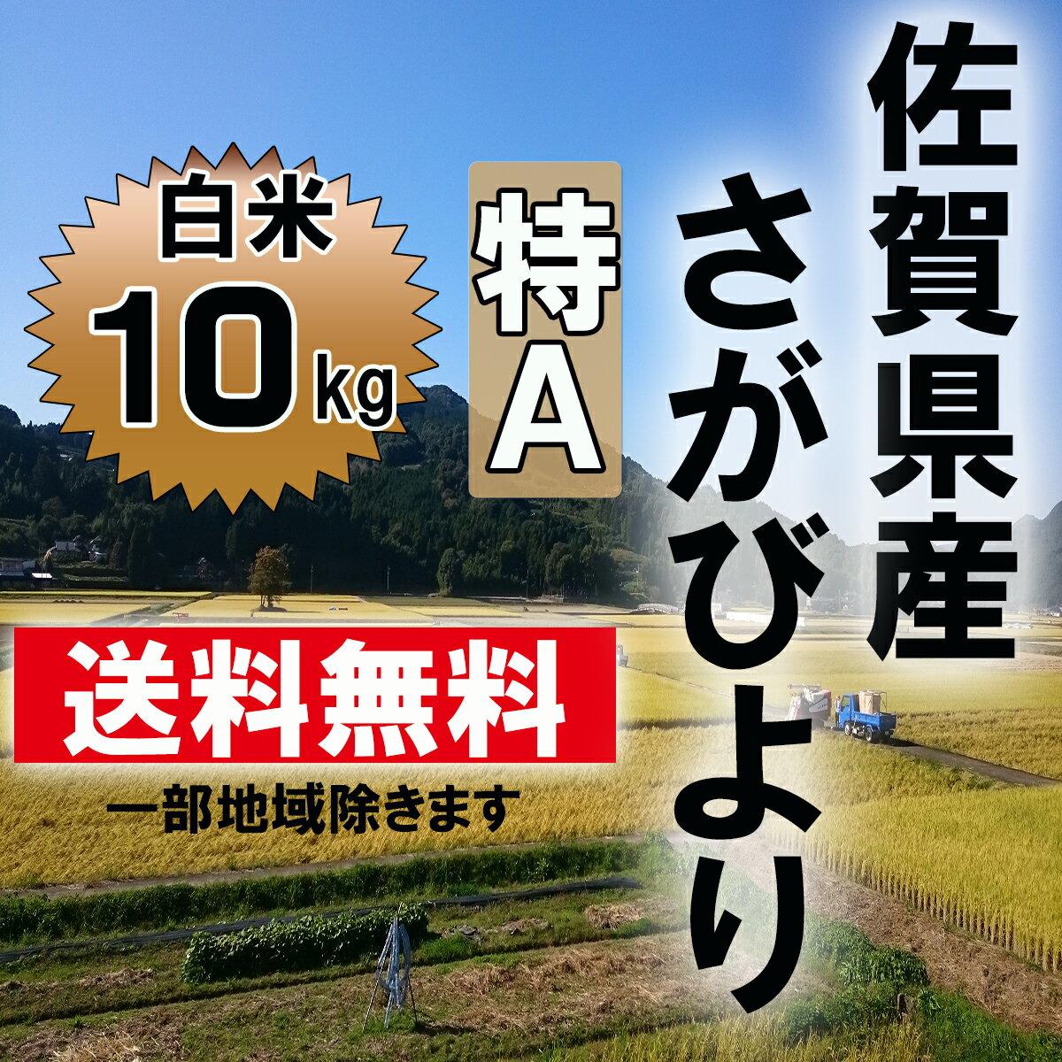 【送料無料】【29年産 新米】7年連続特A 佐賀県産さがびより 白米10kg(【九州産】【米】【お米】