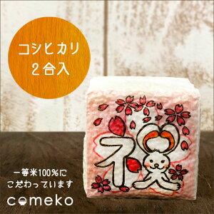 プチギフト 米 イラストサイコロ 祝さくら お祝い かわいい 真空 お米 プレゼント