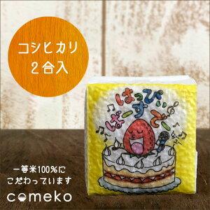 プチギフト 米 イラストサイコロ ハッピーバースデーいちご お誕生日 プレゼント 真空 お米 お祝い 誕生日 お誕生日祝い
