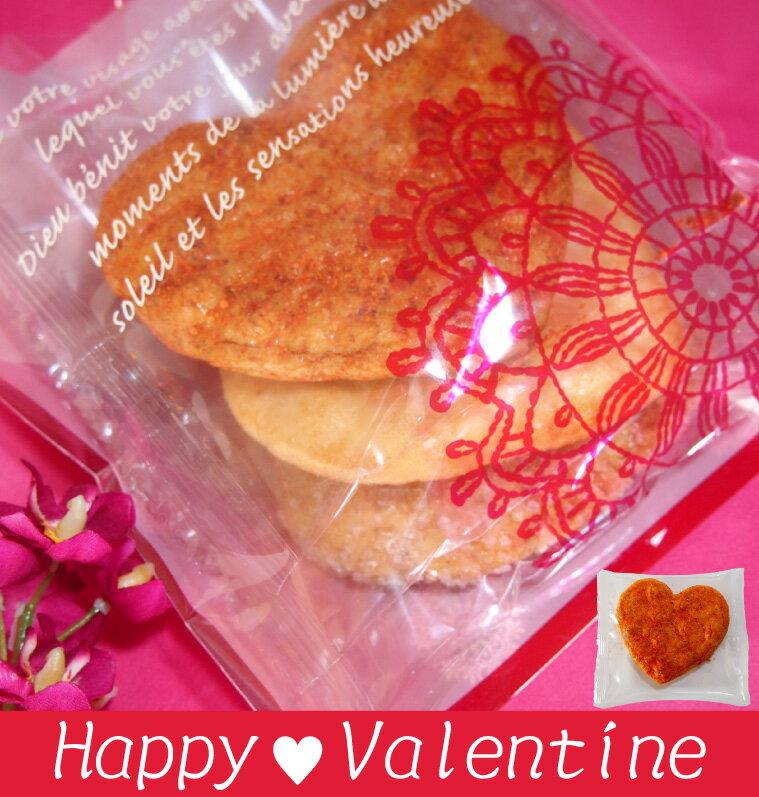 バレンタイン限定ハートせんべい煎餅3枚入