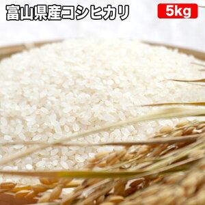 【精米無料 真空パック】富山県産 コシヒカリ 玄米 5kgお米【選べる搗き方 白米・ハイガ米・玄米・8分つきなど】完全真空包装米 鮮度維持・カビ、害虫などの繁殖 防止に♪