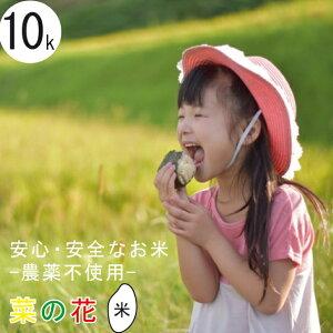 無農薬 米 菜の花米 送料無料 特別栽培米 新米 令和2年産 富山県産 コシヒカリ 10kg ( 5kg x 2個 ) 安心 安全【お歳暮】【お中元】有機肥料 栽培期間中農薬不使用 玄米 〜 白米 分つき精米 マ
