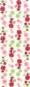 手ぬぐい レトロばら バラ 薔薇 花 春 ピンク 注染 てぬぐい 日本製 綿 タペストリー NTE-034【メール便8点まで】