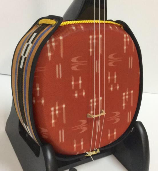 三線 デザイン三線 首里織:オレンジ 初心者セット付き 無料カスタマイズOK 三線関連品の激安オプション有 送料無料