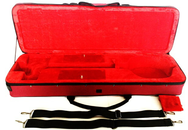 三線ケース セミハードケース (レッド・赤) 激安