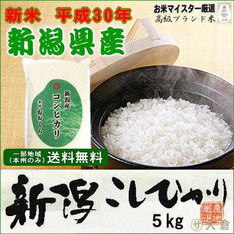 新米 30年産 新潟県産コシヒカリ(平成30年産)5kg【送料無料(本州のみ)】