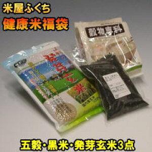 米 【送料無料】 健康米福袋 お米なし 発芽玄米 五穀米 黒米の3点セット 雑穀 詰め合わせ 他のお米と同梱可
