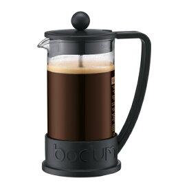 【お試し コーヒー豆付】ボダム Bodum フレンチプレス ブラジルシリーズ ブラック BK 350ml 1-2人用 初心者におすすめコーヒーメーカー プレス式 コーヒー器具 0948-01【コンビニ受取対応商品】