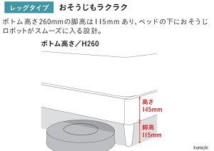 フランスベッド GR-03C 脚付き 高さ26cm ダブルフレーム スノコ床板(マットレス別売)