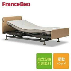 フランスベッド レステックス-01FNフレーム+イーゼルRXマットレス 低床3モーター 電動ベッド シングルサイズ