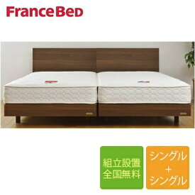 フランスベッド メモリーナ65-ZT-020 シングルベッド+シングルベッド2台セット