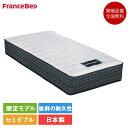 フランスベッド PR70-DDEX セミダブル マットレス 122cm×195cm×31cm | ベッド マット 日本製 国産 人気 ダブルデッキ スプリング 高…