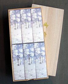宇野千代のお線香 淡墨の桜桐箱サック6入