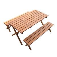 天然木のBBQテーブルセット911
