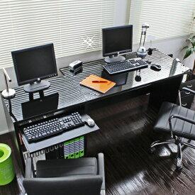 デスク パソコンデスク ダブルデスク(デスク120cm+ラック60cm+チェスト30cm) 日本製デスクは2人用にも使えるワイド幅合計180cm!日本製です FM18BK-N デスク パソコンデスク 机 つくえ 作業台 120cm デスク 収納 サイド ワゴン テレワーク リモートワーク ステイホーム