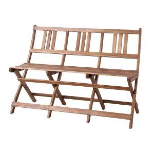 アウトドア 椅子・テーブル・レジャーシート 椅子・テーブルセット バイロン 折りたたみチェア 3人掛NX-905 折りたたみ アカシア 山 海 ベランダ