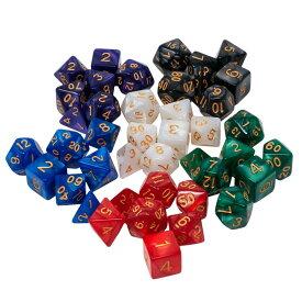 多面体 サイコロ ダイス セット 4面 6面 8面 10面 12面 20面 おもしろい おもちゃ TRPG RPG ボードゲーム すごろく ゲーム 収納袋 つき 送料無料