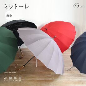 傘 メンズ 日本製 傘専門店 高級 ブランド 16本骨 おしゃれ 長傘 「東レ・ミラトーレ」 65cm 超撥水 水をはじく傘 風に強い 丈夫 耐風 大きい 大判 軽い 軽量 カーボン 濡れない 紳士用