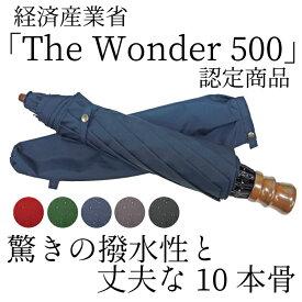 傘 メンズ 折りたたみ傘 日本製 傘専門店 高級 ブランド 2段折 10本骨 「東レ・ミラトーレ」 超撥水 水をはじく傘 風に強い 丈夫 折り畳み傘 60cm おしゃれ 耐風 グラスファイバー 濡れない 紳士用