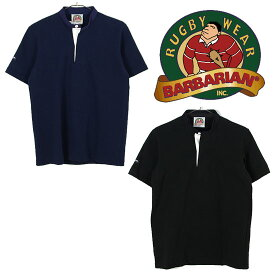 [キャッシュレス5%還元対象]バーバリアン スタンドカラーラグビーシャツショートスリーブ12oz GRF メンズ/男性用 SHORT SLLVE (12OZ) ※半期に一度のクリアランス