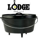 ロッジ ダッチオーブン本体 LDG19240122-12D ロジックキャンプオーヴン12インチDeep【キャンプオーブン深型12インチシ…