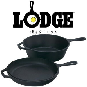 ロッジ ダッチオーブン本体 LDG19240020 ロジックコンボクッカー ニューコンボクッカーシーズニング済 深型スキレット IH対応ダッジオーブン LCC3