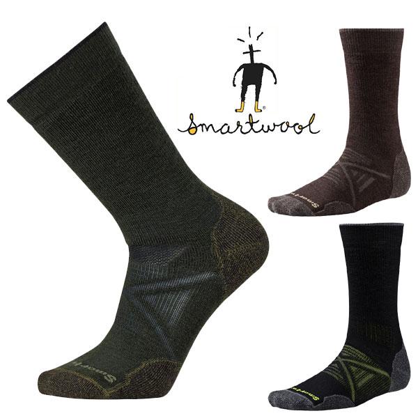 [最大2000円OFFクーポン配布中!1/16水1:59まで]スマートウール PhDアウトドアミディアムクルー SW71055 メンズ/男性用 ソックス Men's PhD Outdoor Medium Crew Socks チェスナット ブラック