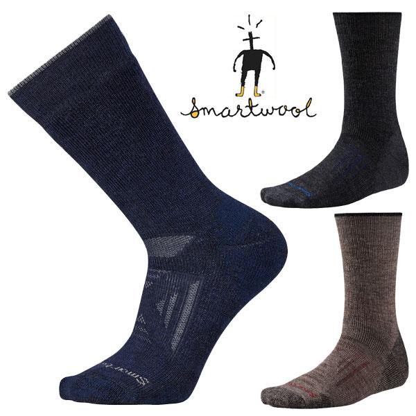 [最大2000円OFFクーポン配布中!1/16水1:59まで]スマートウール PhDアウトドアヘビークルー SW71057 メンズ/男性用 Men's PhD Outdoor Heavy Crew Socks トゥプ チャコール ブラック