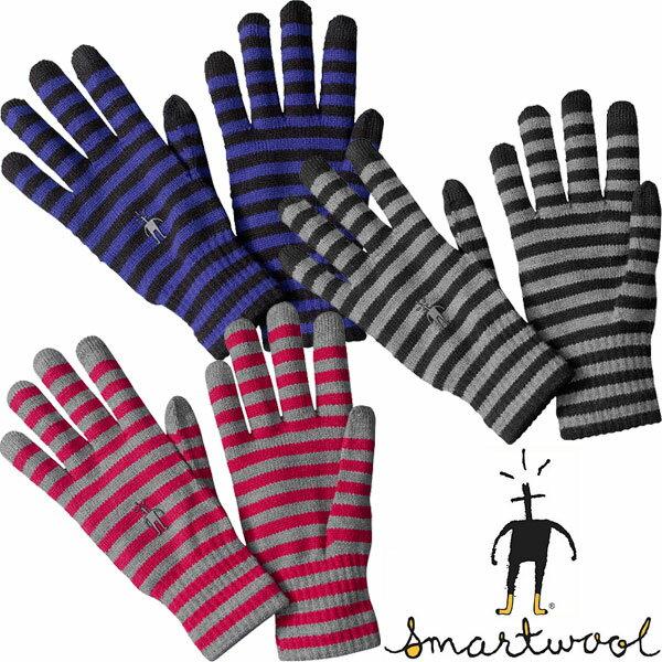 スマートウール ストライプドライナーグローブ SW65340 ユニセックス/男女兼用 Striped Liner Gloves 【ゆうパケットOK】