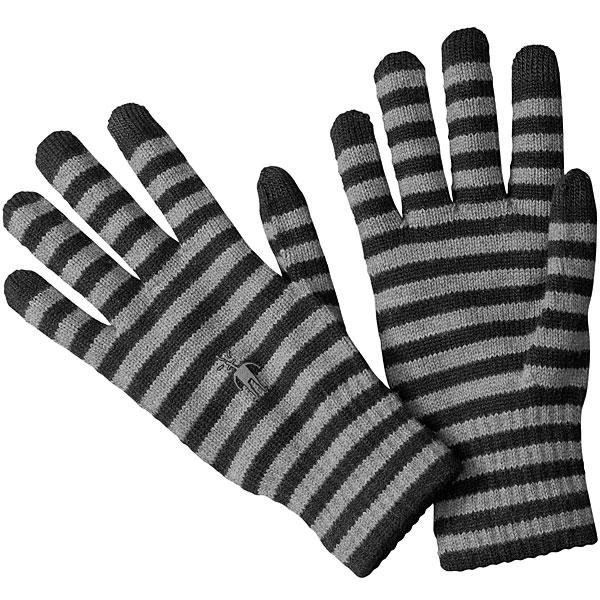 [最大2000円OFFクーポン配布中!1/16水1:59まで]スマートウール ストライプドライナーグローブ SW65340 ユニセックス/男女兼用 Striped Liner Gloves 【ゆうパケットOK】 ブラック