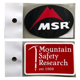 MSR ステッカー MSRsticker ロゴオーバルステッカー ヘジテイジステッカー【ゆうパケットOK】