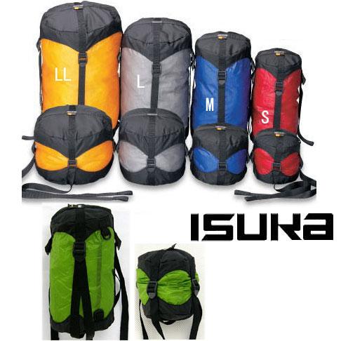 イスカ コンプレッション ISK3393 ウルトラライトコンプレッションバッグ (L) シュラフ用小物 寝袋用小物 圧縮 【ゆうパケットOK】