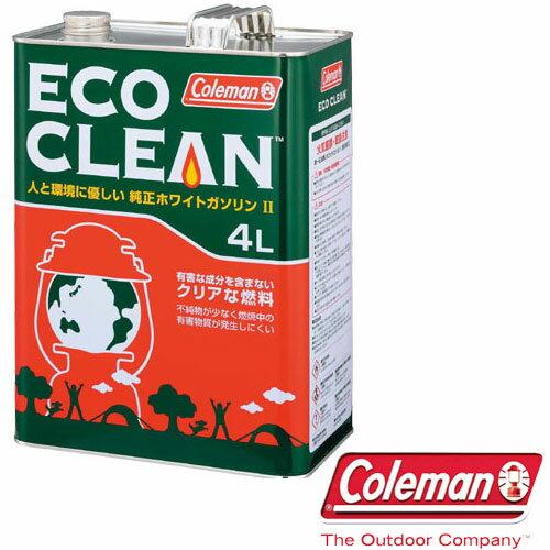 コールマン 取寄 ガソリン 170-6760 エコクリーン (4L) 純正 ホワイトガソリン 燃料 ECO CLEAN RCP