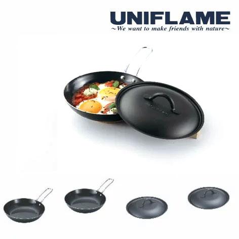 ユニフレーム フライパン UF666401 ちびパン2×2 蓋セット フライパン 黒皮鉄板 キャンプ/野外料理用 バーベキュー/BBQ用
