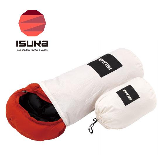 イスカ ISK3654 00 ( 生成り) コットンストリージバッグ (S) Cotton Storage Bag 寝袋保管 ダウン製品保管 シュラフ小物 寝袋用小物 寝具 スリーピングバッグ ※ゆうパケットOK