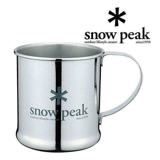 スノーピーク マグカップ E-010R ステンレスマグカップ Stainless Steel Cup(300ml) ソロアクティブ用 オートキャンプ用 コーヒーカップ マイカップ シングルウォール