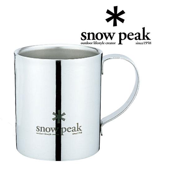 [エントリーで最大P4倍!11/19月9:59まで]スノーピーク マグカップ MG-112R スノーピークロゴダブルマグ 240 Snow Peak Logo Double Wall Cup 240(240ml) マグカップ/コーヒーカップ テーブルウェア