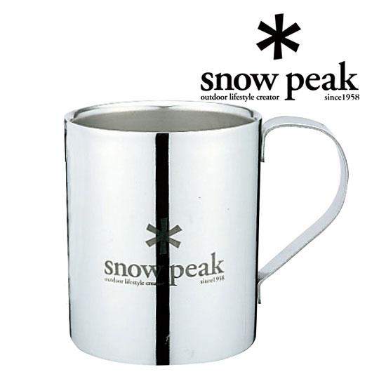 スノーピーク スノーピークロゴダブルマグ330 MG-113R マグカップ Snow Peak Logo Double Wall Cup 330