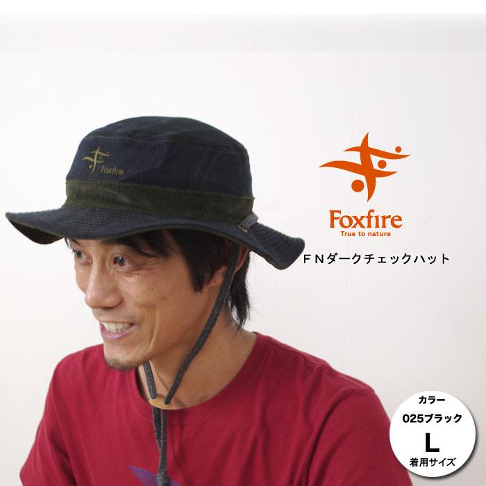 フォックスファイヤー ハット FXF5422221 FNダークチェックハット 帽子 メンズ/男性用 レディース/女性用 男女兼用 スタッフ写真付 【ゆうパケットOK】
