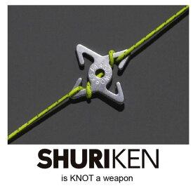 [キャッシュレス5%還元対象]パーゴワークス 自在 pworksNJ02 シュリケン SHURIKEN 自在 キャンプ ロープ ロープワーク