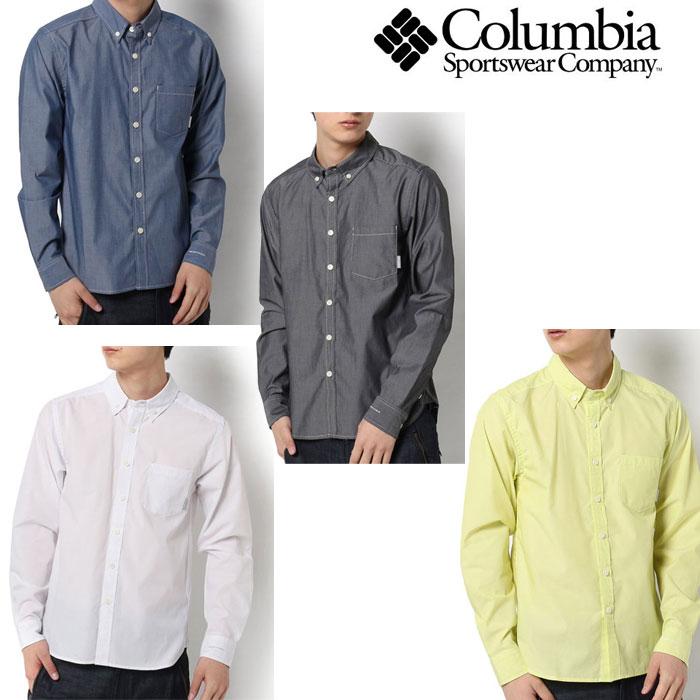 コロンビア シャツ メンズ/男性用 PM7936 シティパークロングスリーブシャツ City Park Long Sleeve Shirt 長袖シャツ 吸水速乾 カジュアルウェア ※半期に一度のクリアランスセール