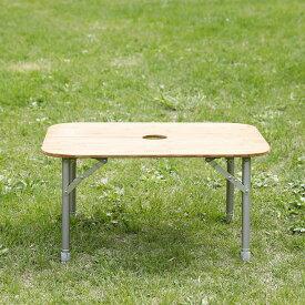 [最大2000円OFFクーポン配布中!1/28火1:59まで][キャッシュレス5%還元対象]ニュートラルアウトドア テーブル NEUTRALOD34939 バタフライバンブーテーブル Butterfly Bamboo Table テーブル センターポール 折り畳みテーブル 高さ調節可能 NT-BT11