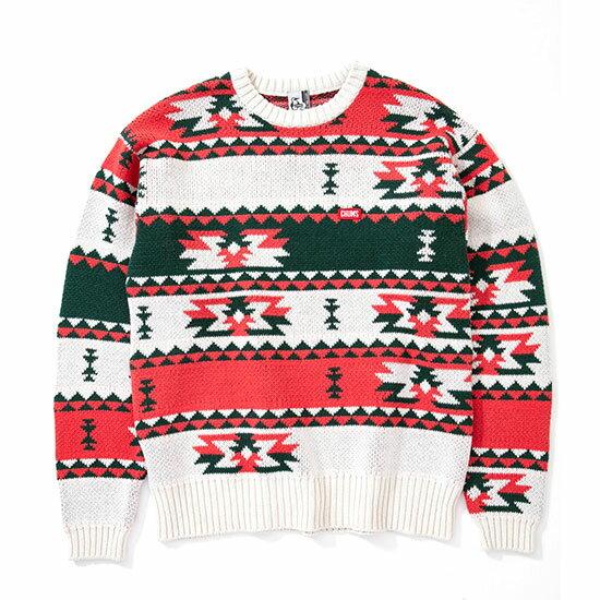 チャムス デルタパターンニットクルートップ CH02-1096 メンズ/男性用 セーター Delta Pattern Knit Crew Top ※半期に一度のクリアランス