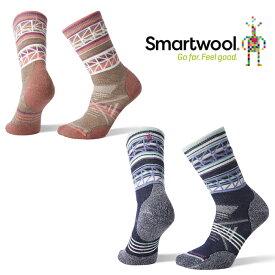 スマートウール ウィメンズ PhDアウトドアミディアムパターンクルー SW71073 レディース/女性用 靴下 ロストアロー正規取扱店