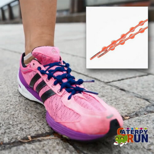 キャタピー 結ばない靴ひも「キャタピラン」75cm オレンジグレー N75-OG