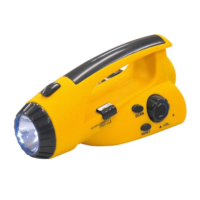 手回し発電ラジオ付きライト 防災グッズ 電池不要 緊急 避難 アーテック 3906