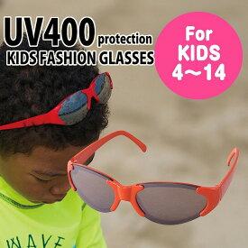 サングラス 子供用 キッズ こども キッズファッショングラス(オーバル レッドxブラック)4才〜14才 UVカット UV400カット加工 紫外線対策 紫外線カット かわいい おしゃれ スパイス SFKY1508