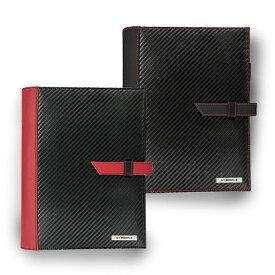 手帳 システム手帳 GT-MOBILE A5サイズ システム手帳 手帳カバー カーボン調 手帳 A5サイズ ブラック 高級感 プレゼント 贈り物 大人 男性 エアージェイ GT-POG1