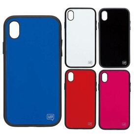 iPhone XR 対応 iPhoneXR 6.1インチモデル ケース カバー IJOY 衝撃吸収フィルム付 ハイブリッドケース シンプル カラー 無地 人気 話題 サンクレスト i32BiJ0*